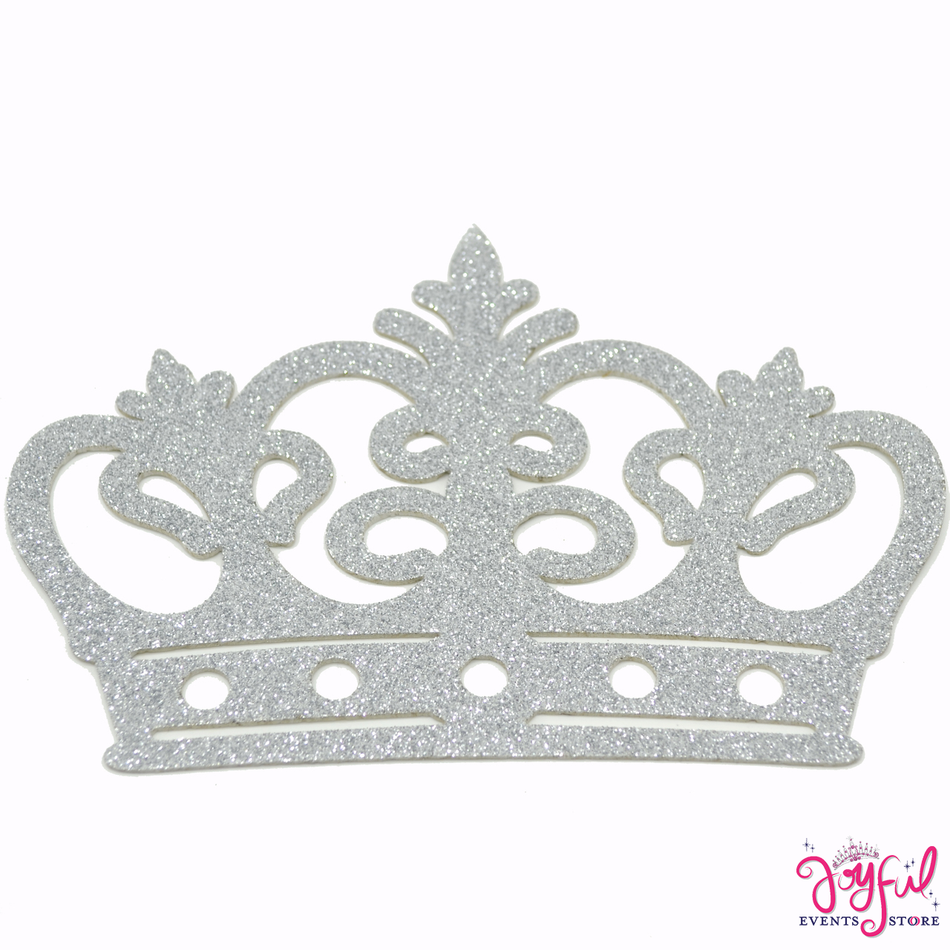 "7.75"" Foami Silver Crown - 10 Pieces #FM81SV"