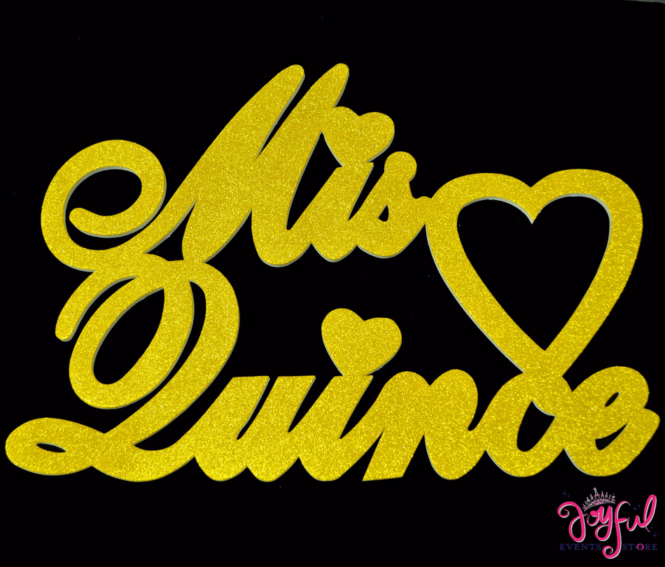 """23"""" Mis Quince Gold Sign - One #FM83GD"""