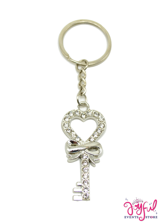 Key with Heart Design Keychain - 12 Pieces #PF83SVGD