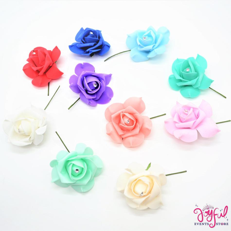 """3"""" Foami Single Rose - 12 pieces #FL52"""