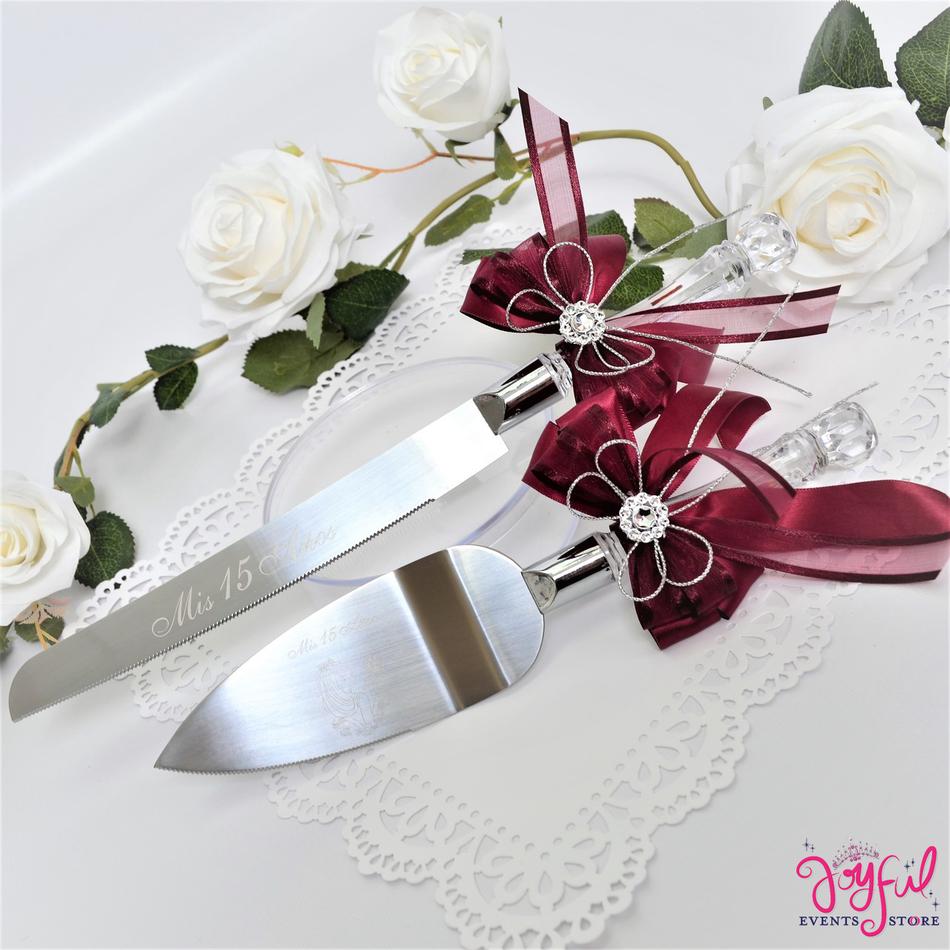 Wedding or Quinceanera Cake Server & Knife Set  - #CS19