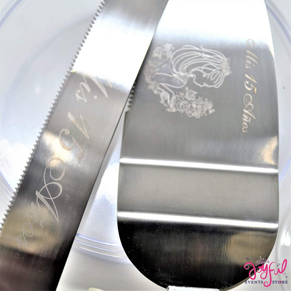 Quinceanera or Wedding Cake Server & Knife Set -  #CS28