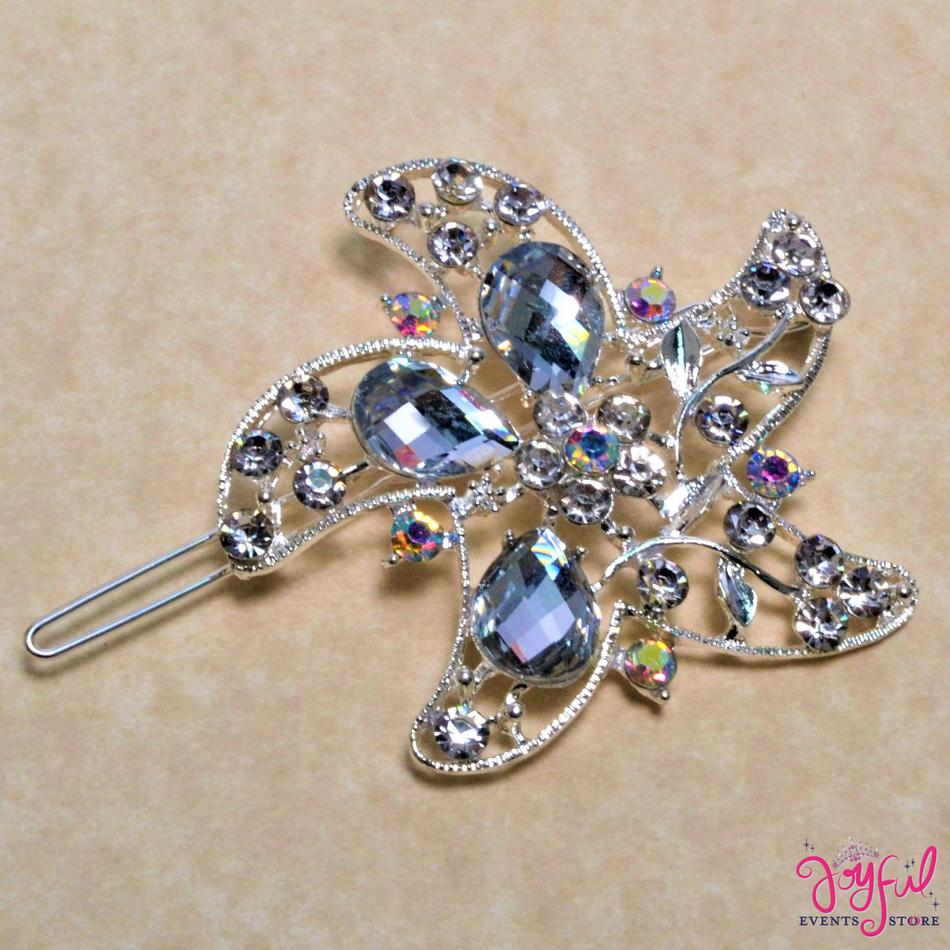 "2"" Silver Rhinestone Brooch with Sea Star Design - One BR101"