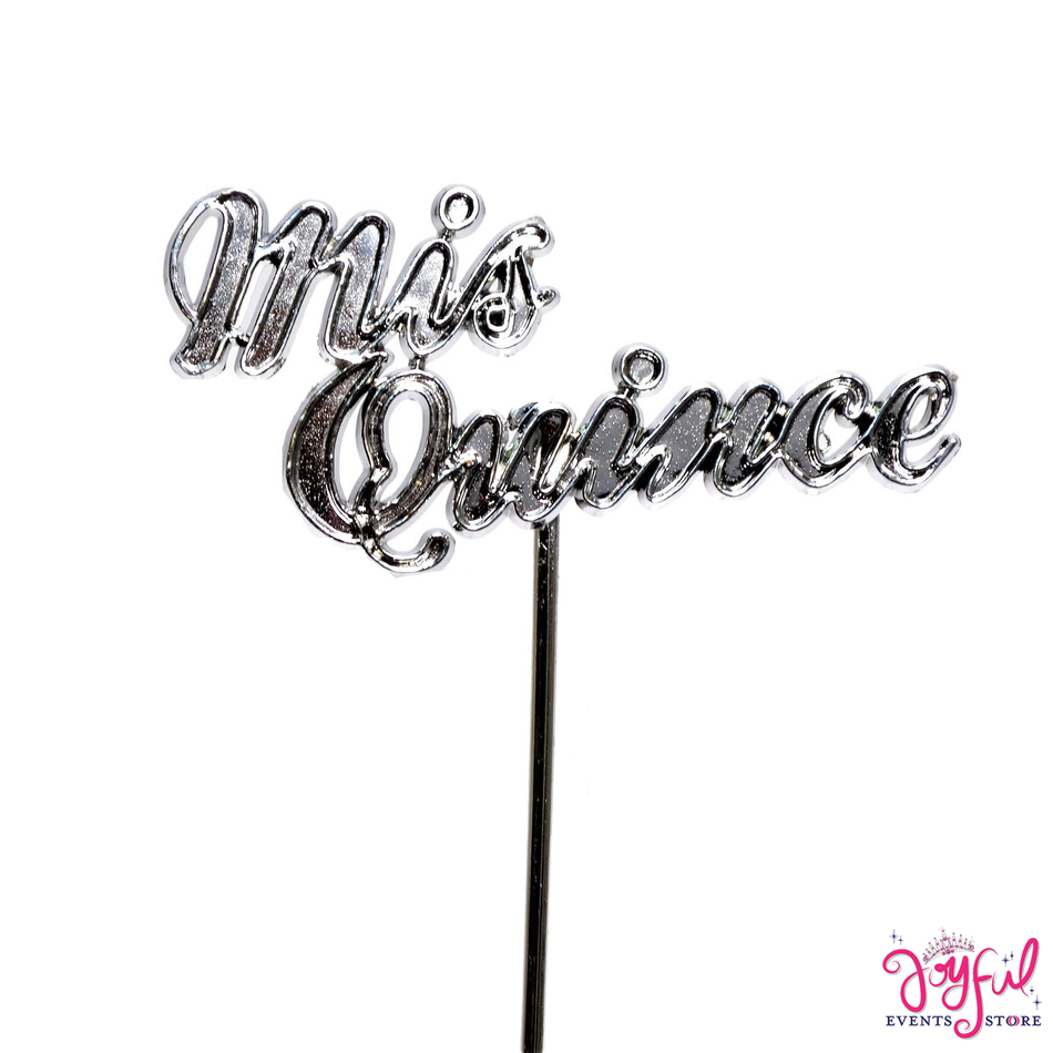 """4"""" - """"Mis Quince"""" Sign Silver Sticks - 12 Signs #S1SV"""