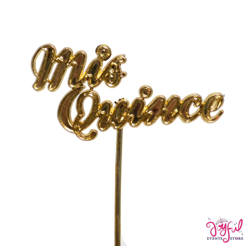 """4"""" - """"Mis Quince"""" Gold Sign Sticks - 12 Signs #S1GD"""