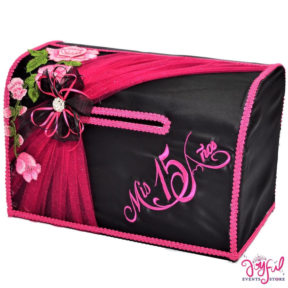 "15"" Pink Roses Money Gift Box #MNYBX29"