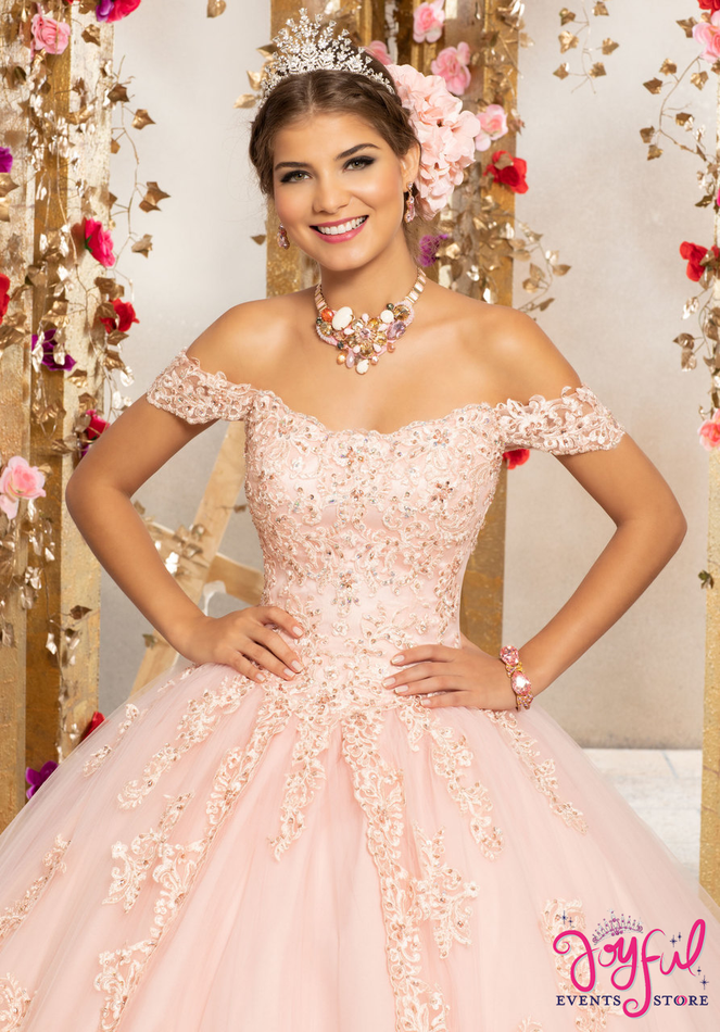 Crystal Beaded Embroidery on a Princess Tulle Ballgown #89231