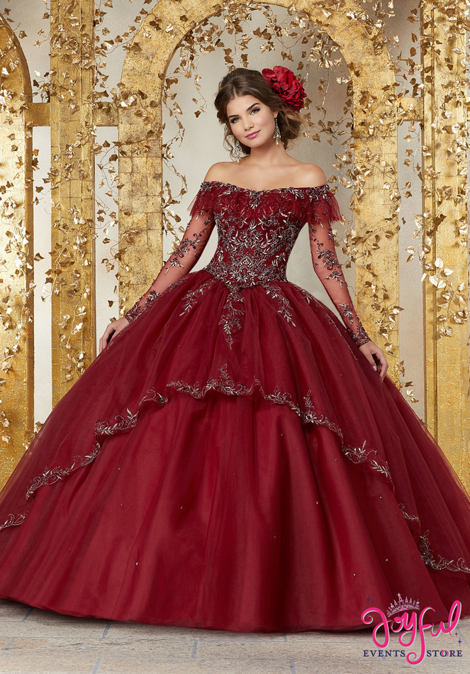 Crystal Beaded Embroidery on a Tulle Ballgown #89235