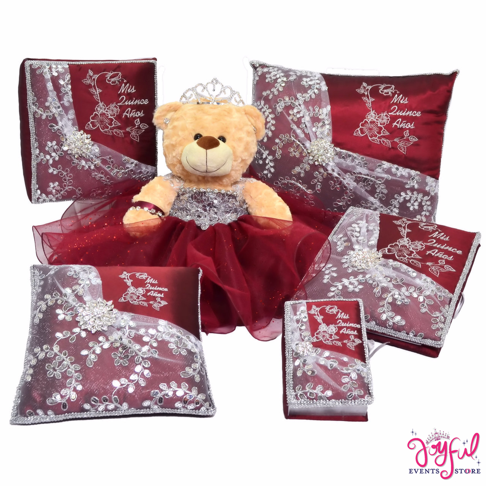 Quince Set with Pillows, Photo Album, Guest Book, Bible and Bear #QSET96LGPK