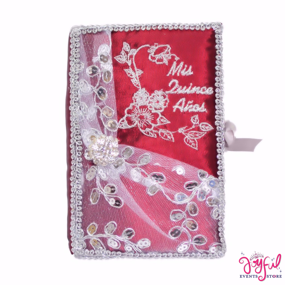 Red Bible With Roses Decoration #BB96