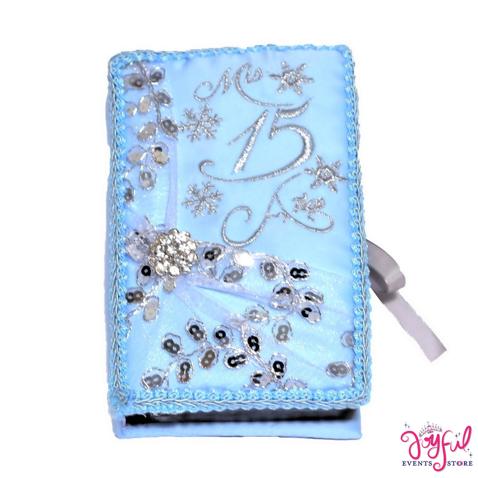 Blue Bible With Roses Decoration # BB173