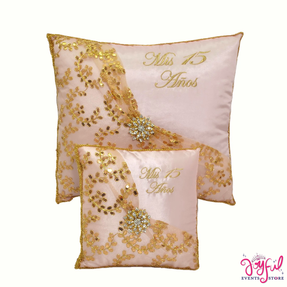 Quinceanera Gold Pillows  - Two Pillows #PLW92