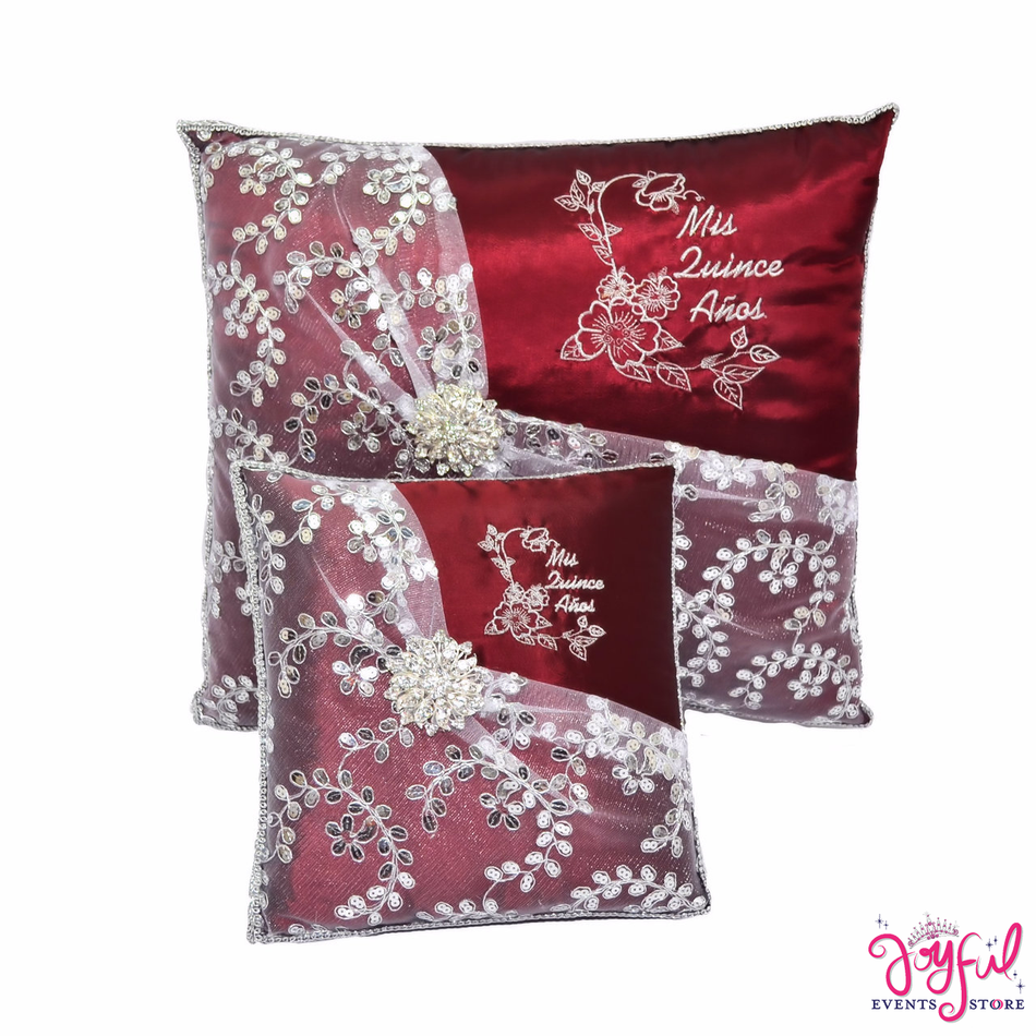 Quinceanera Red Pillows  - Two Pillows #PLW96