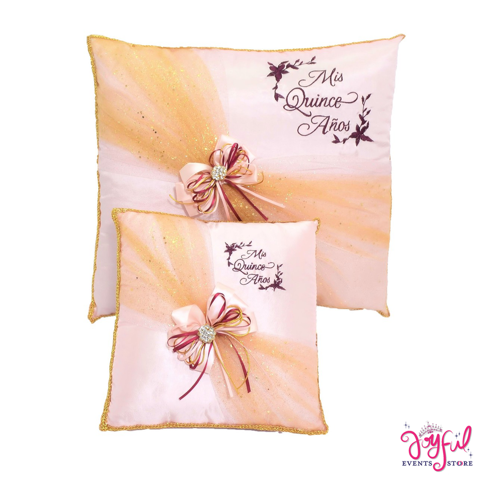 Orange Quinceanera Pillows  - Two Pillows #PLW174