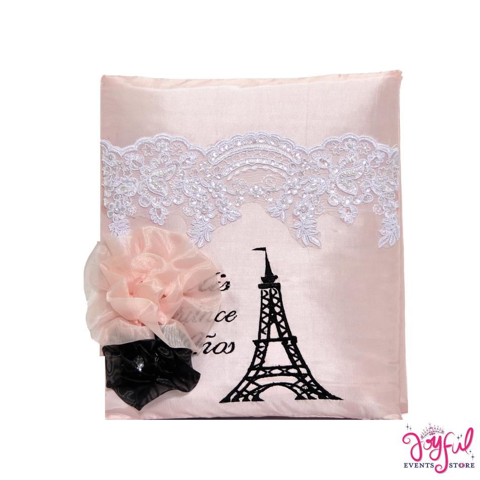 "12"" Quinceanera Eiffel Tower Vintage Photo Album #AL103"
