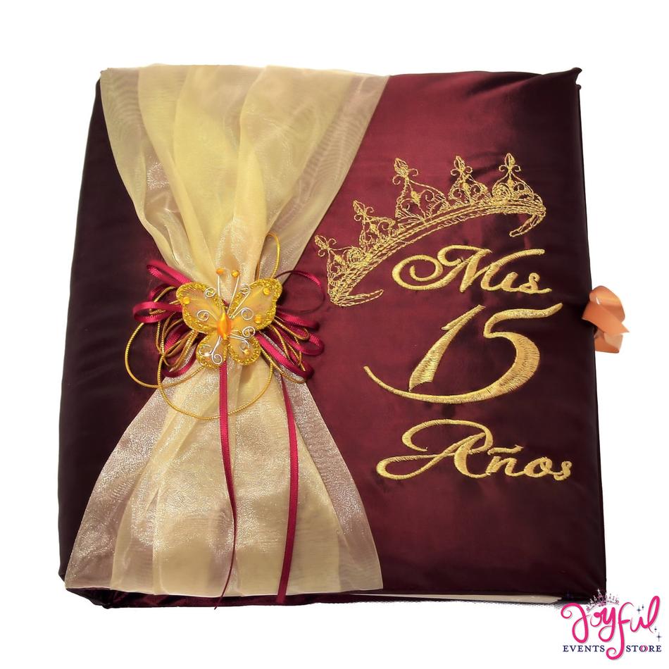"12"" Quinceanera Princess Guest Book #GBCORWN"