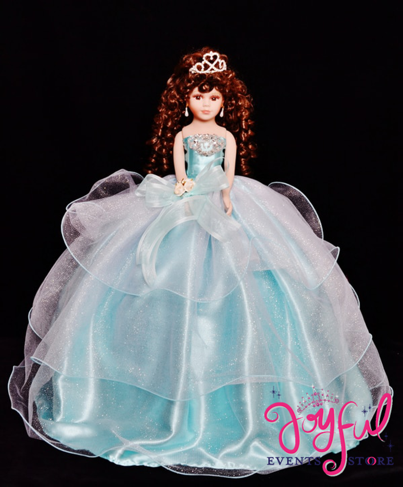 "20"" Tulle Dress Quinceanera Doll #QD33CR"