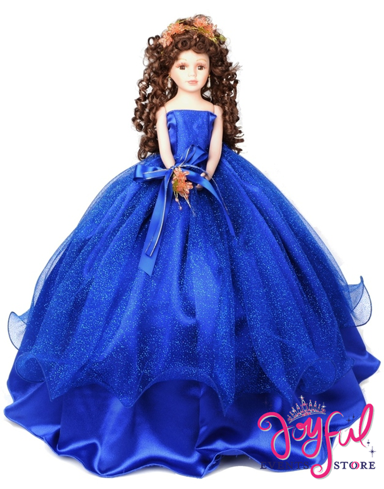 """18"""" Quinceanera Doll with Tulle Dress - #QD10TQ18"""