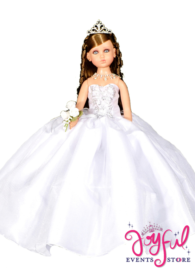 "20"" Tulle Dress Quinceanera Doll #QD61"