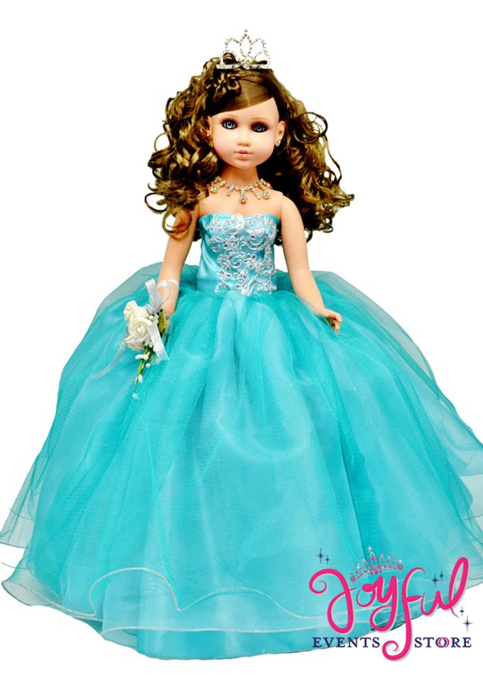 "20"" Tulle Dress Quinceanera Princess Doll  #QD62"