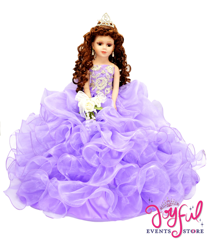 "18"" Quinceanera Doll with Ruffled Skirt Dress #QD56QM"