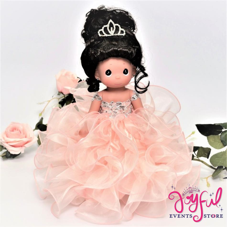 """12"""" Blush Precious Moments Quincenaera Last Doll, Ultima Muneca - #QD33BLS"""