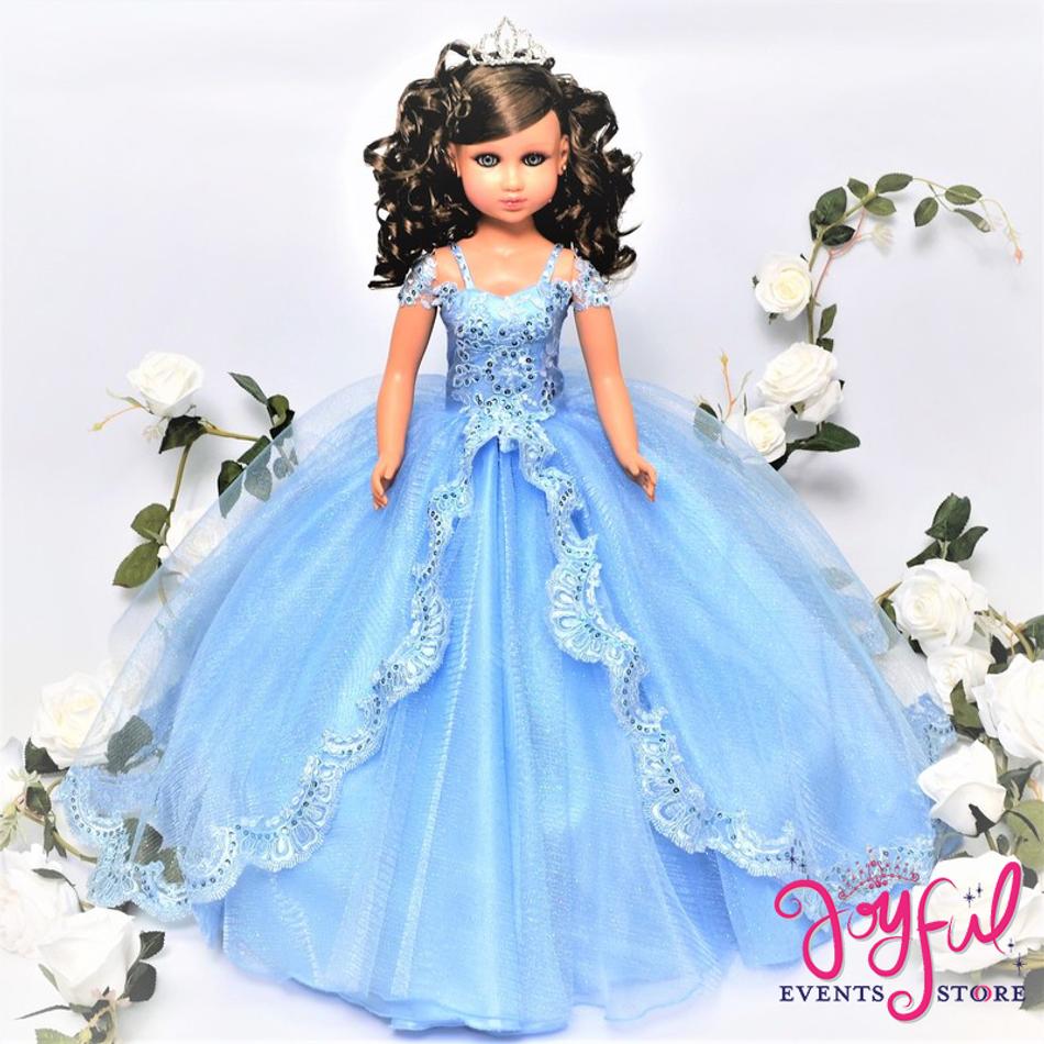 """20"""" Blue Quinceanera Last Doll or Ultima Muneca #QD73"""