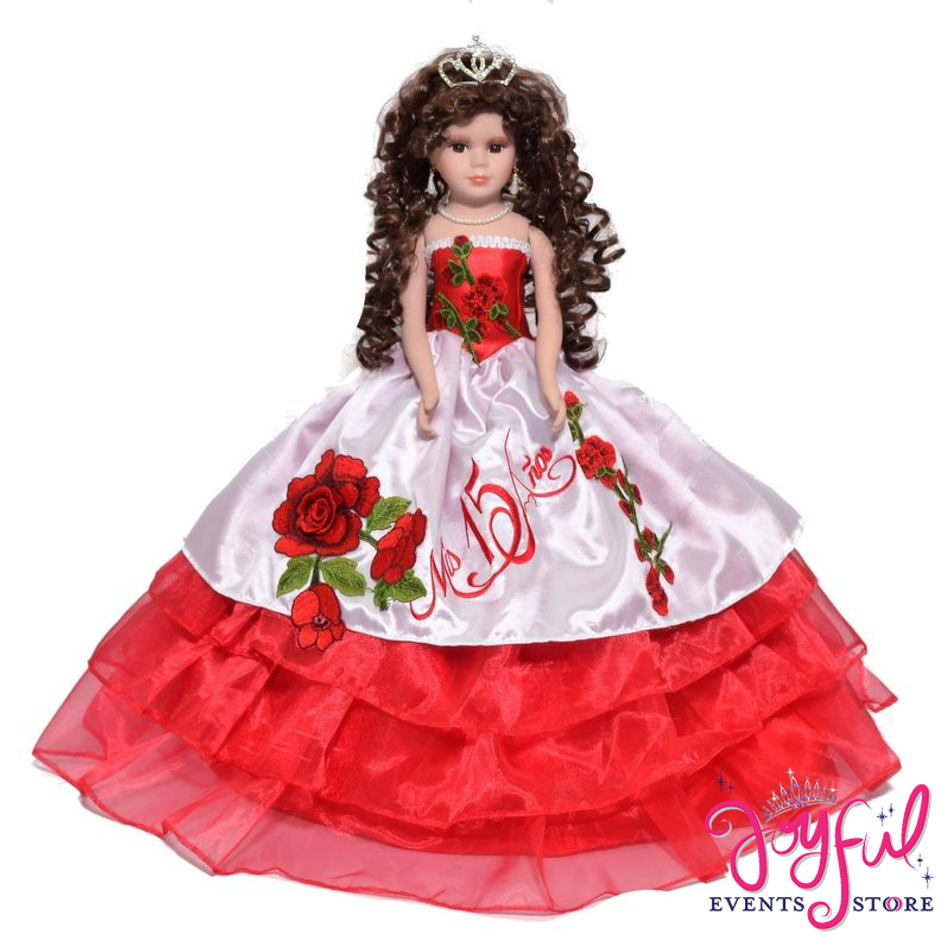fe75efbf88a 18 Quinceanera Charro Last Doll With Red Roses Fl Dress Qd79je