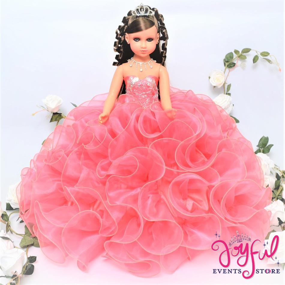 """20"""" Coral Quinceanera Doll #QD75CR"""