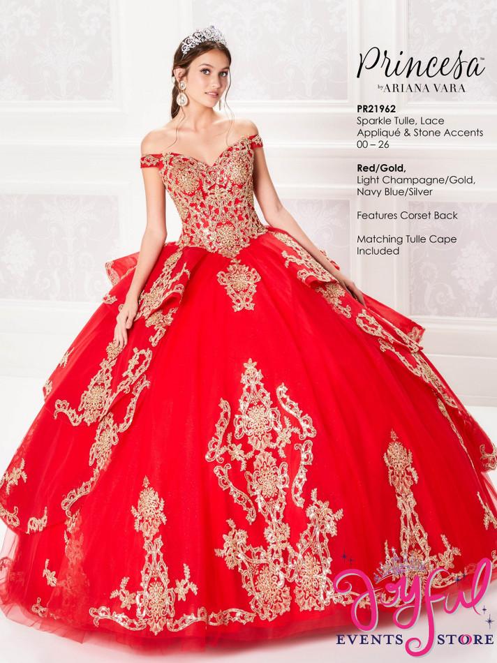 Red/Gold Quinceanera Dress #PR21962RDGD
