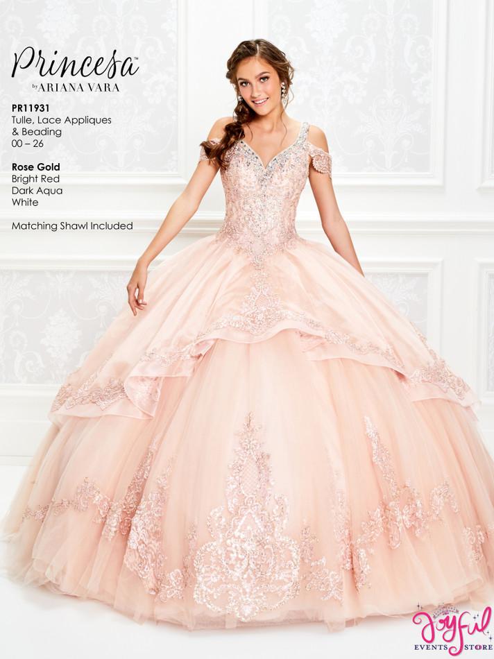 Rose Gold Quinceanera Dress #PR11931RG