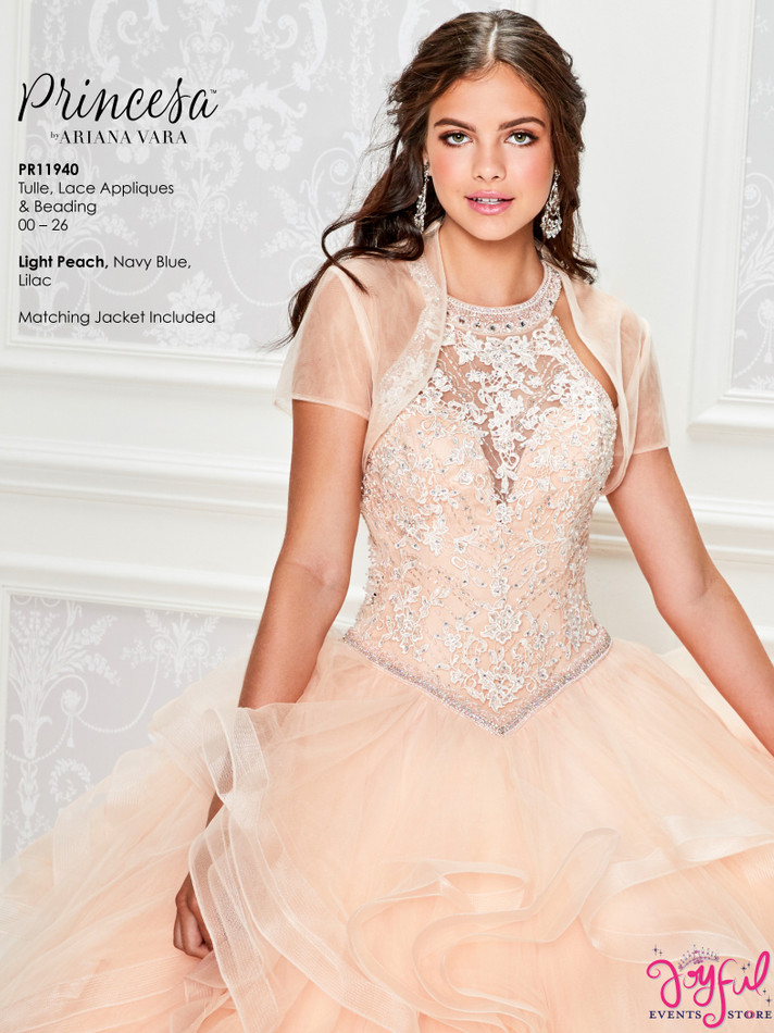 Light Peach Quinceanera Dress #PR11940LP