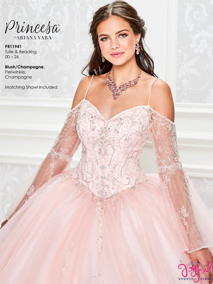Blush/Champagne Quinceanera Dress #PR11941BLS