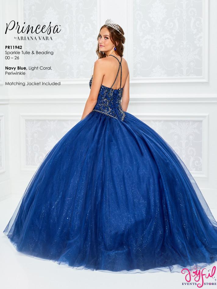 Navy Blue Quinceanera Dress #PR11942NV