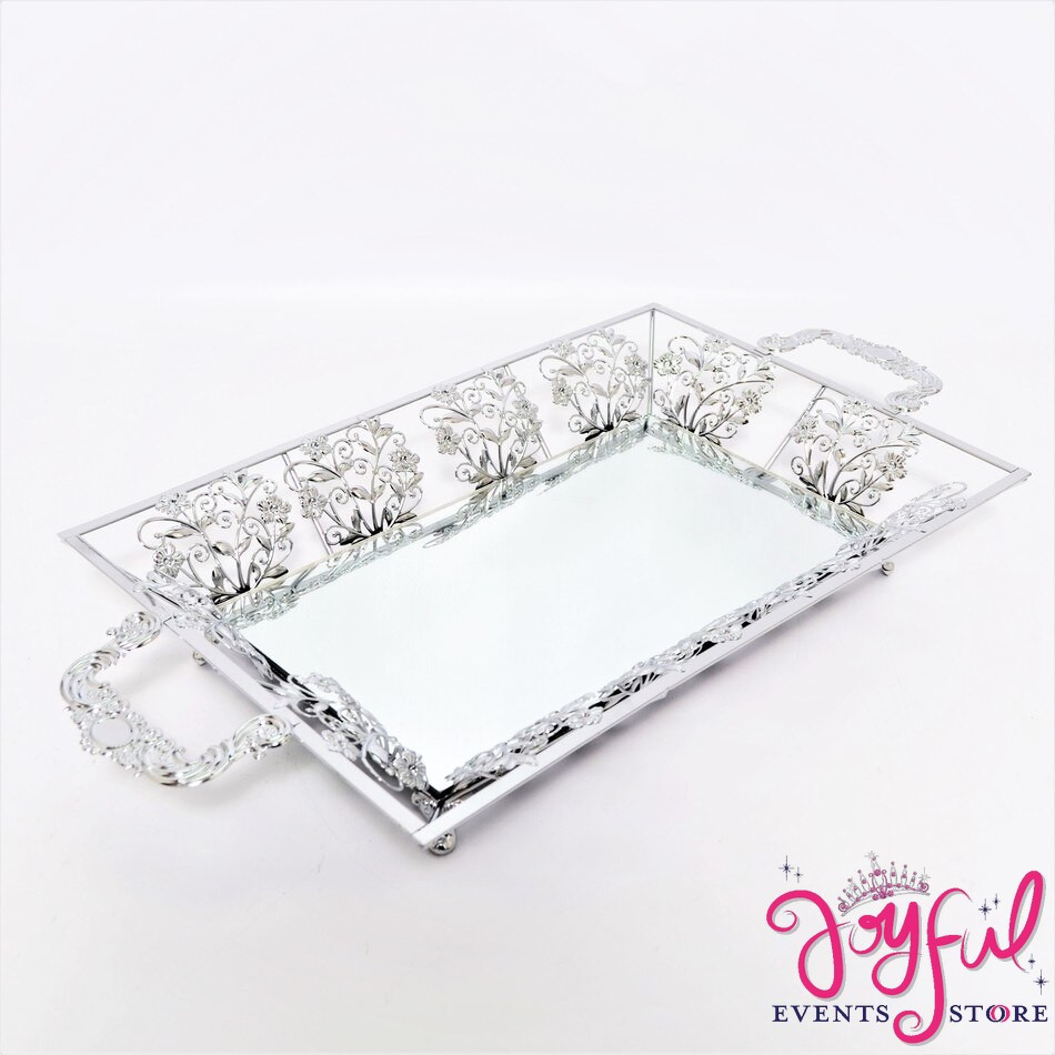 """23"""" Silver or Gold Tray #CHAR3SV"""