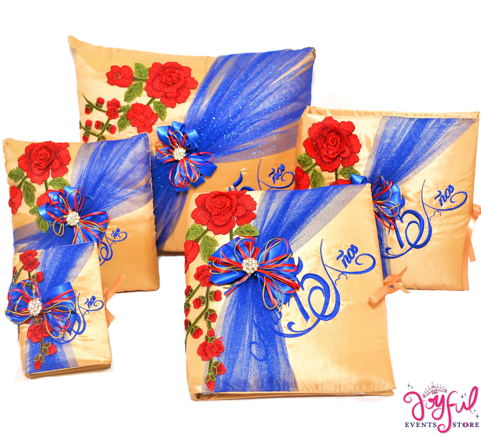 Quinceanera Beauty Accessories Pillows, Photo Album, Guest Book and Bible #QSET108