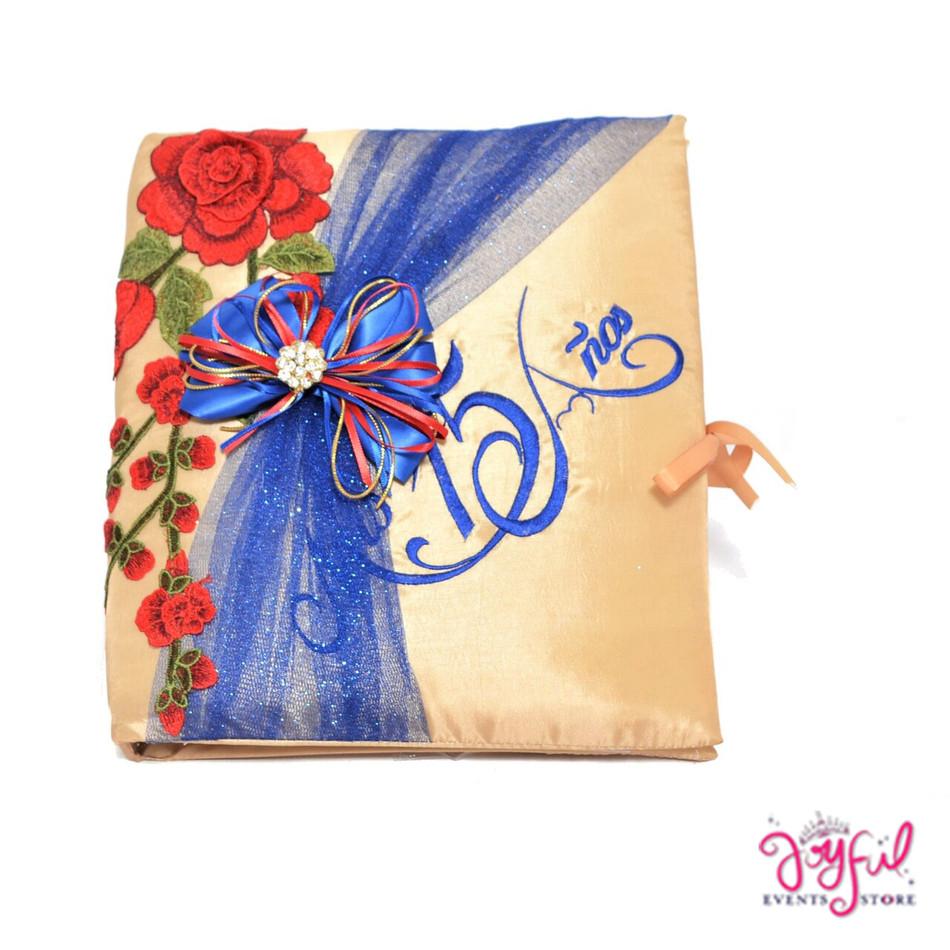 """12"""" Quinceanera Red Roses Design Photo Album #AL108"""