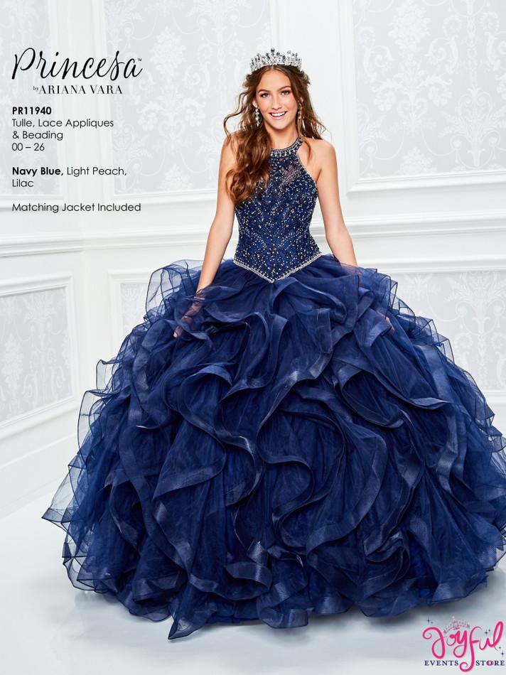 Navy Blue Quinceanera Dress #PR11940NV