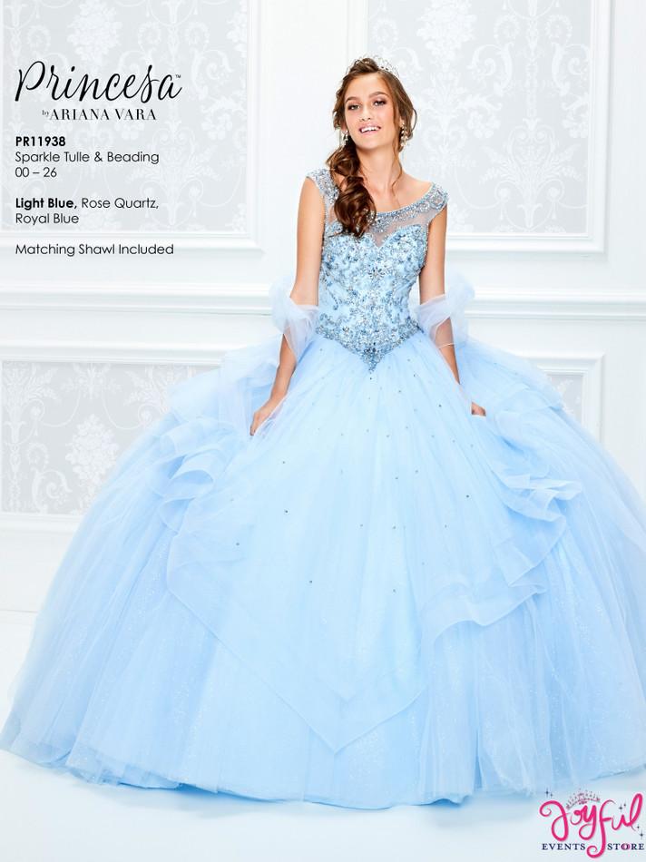 Light Blue Quinceanera Dress #PR11938LB