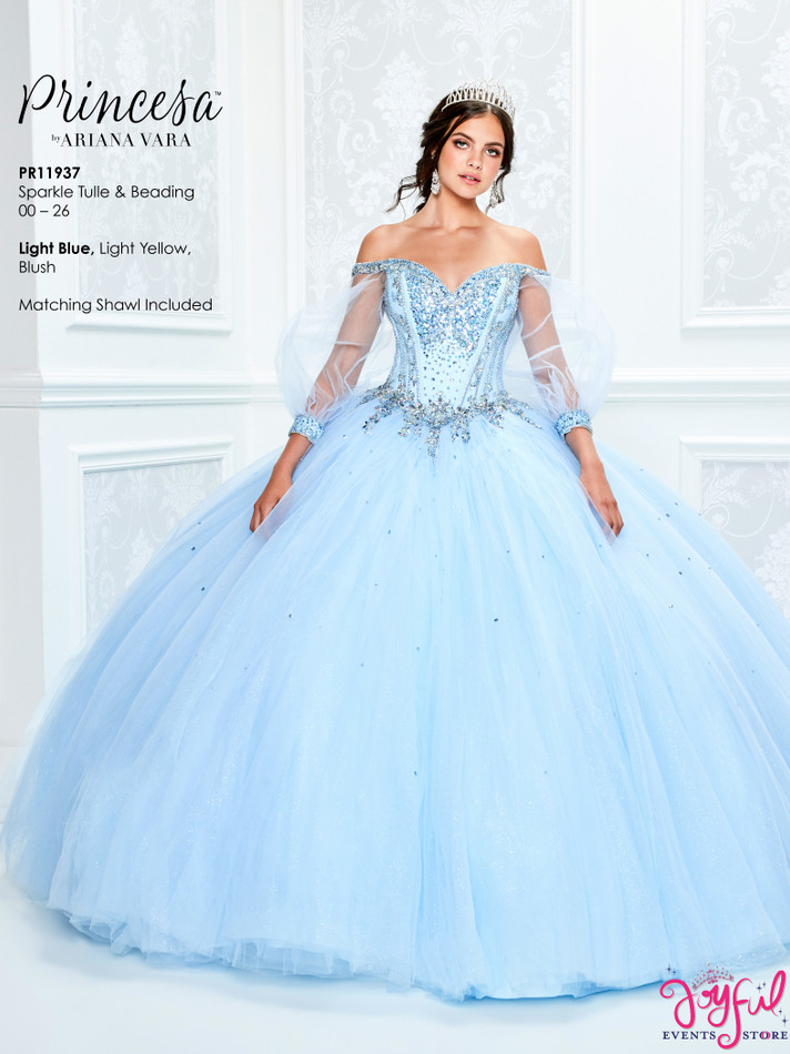 Light Blue Quinceanera Dress #PR11937LB