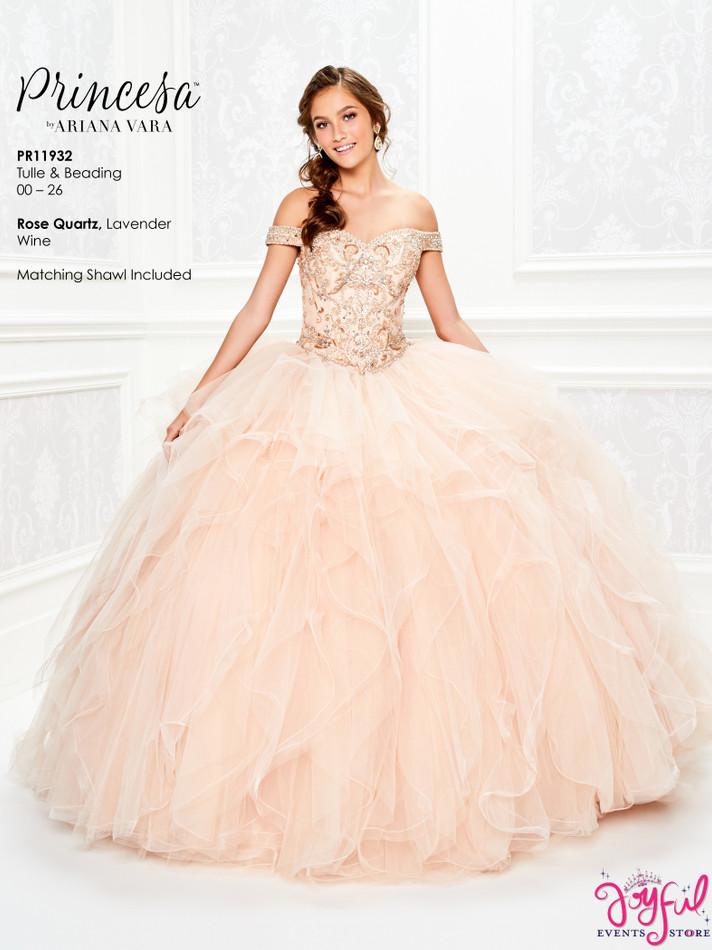Rose Quartz Quinceanera Dress #PR11932RQ