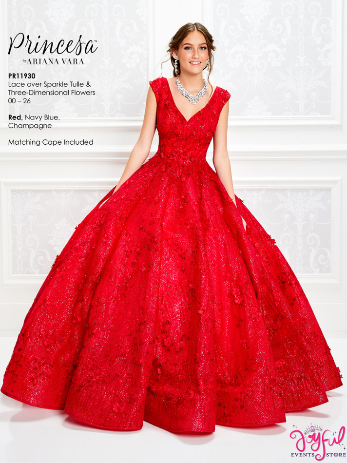 Red Quinceanera Dress #PR11930RD