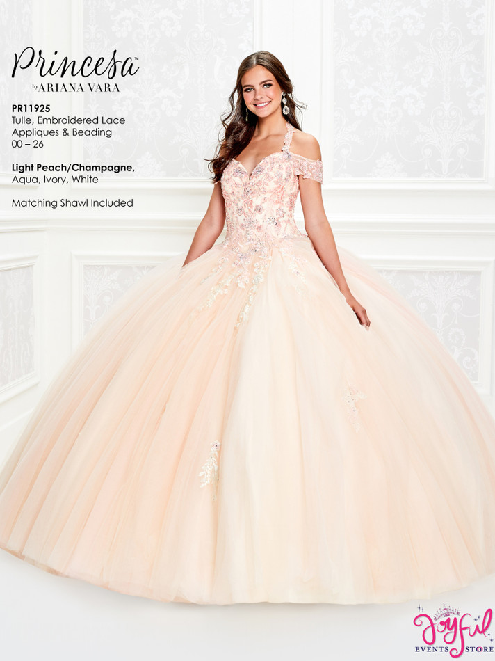 Light Peach Quinceanera Dress #PR11925LP