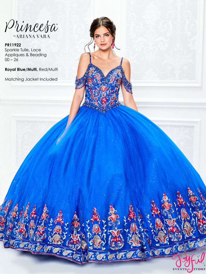 RoyalBlue/Multi Quinceanera Dress #PR11922RBMT