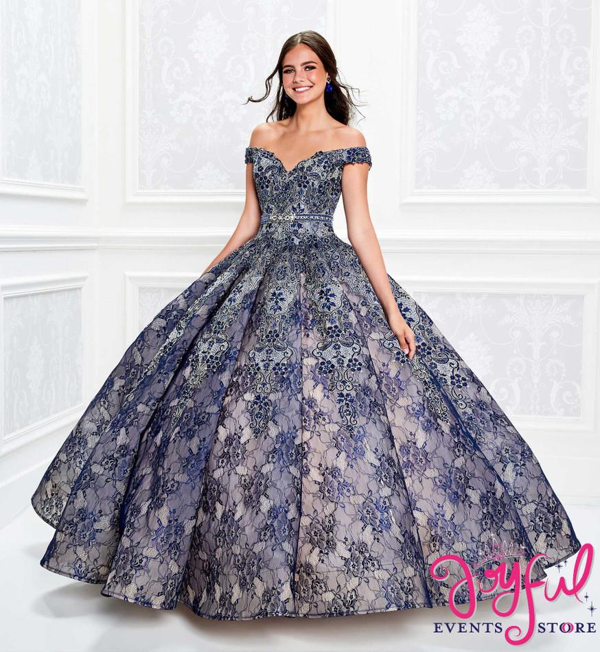 Navy Blue Quinceanera Dress #PR11921NV