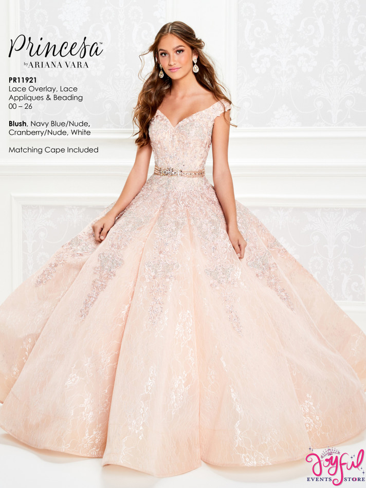 Blush Quinceanera Dress #PR11921BLS