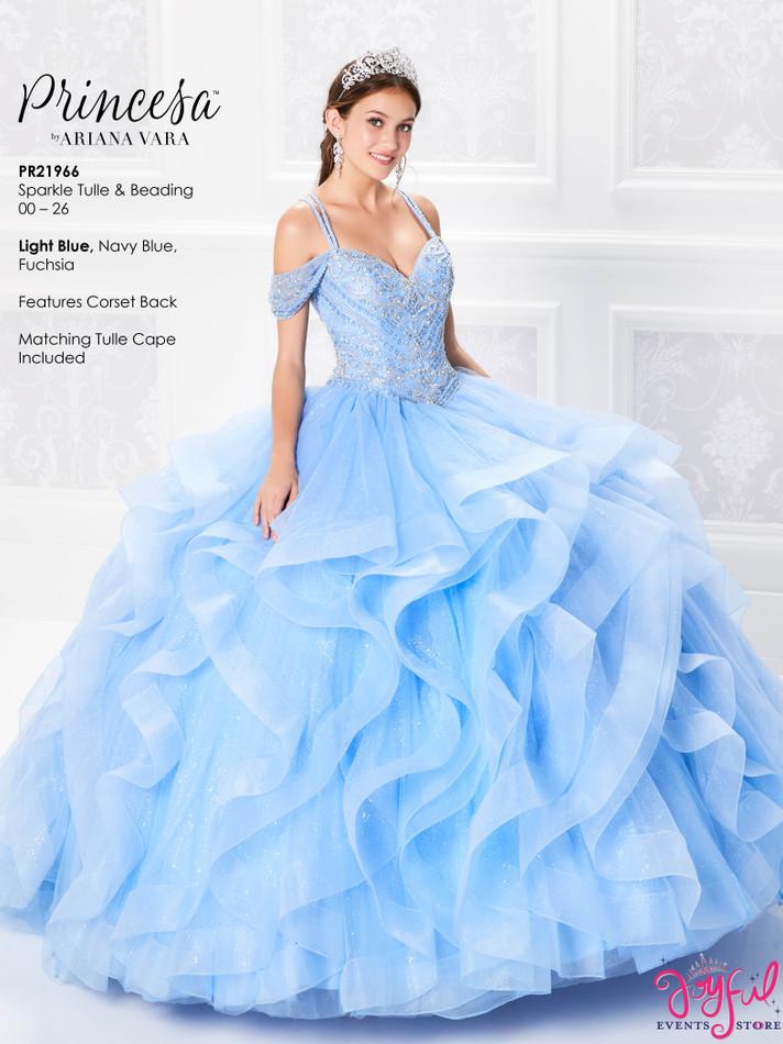 Light Blue Quinceanera Dress #PR21966LB