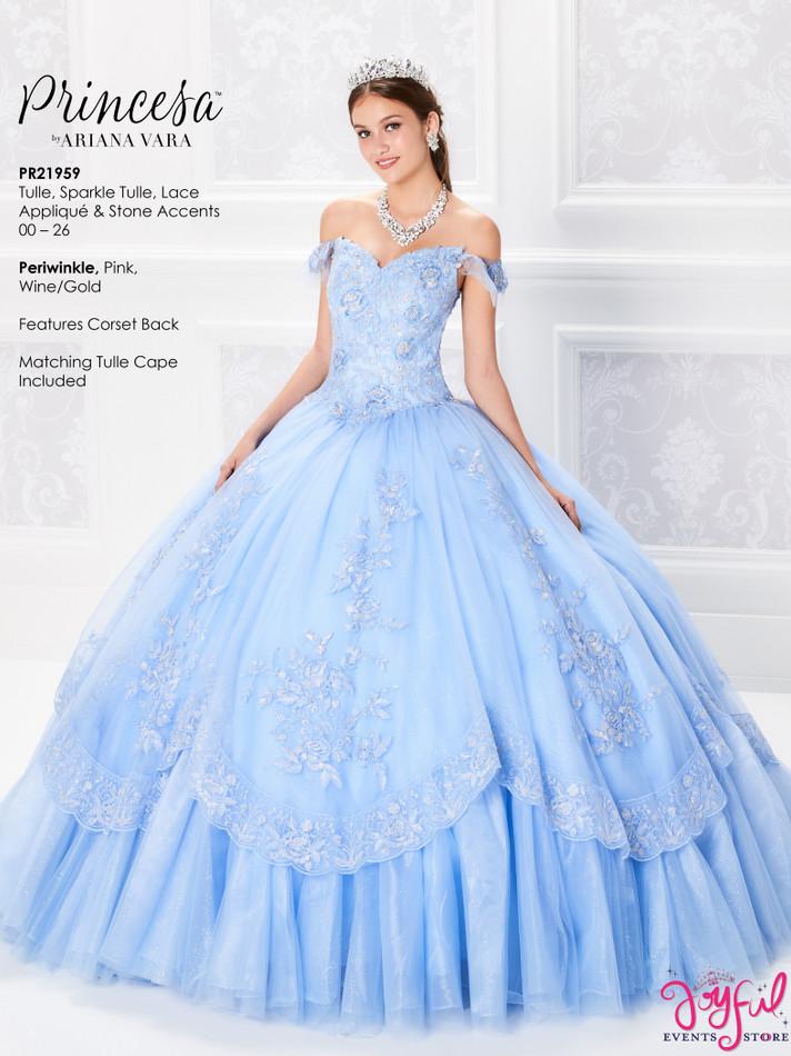 Periwinkle Quinceanera Dress #PR21959PRW