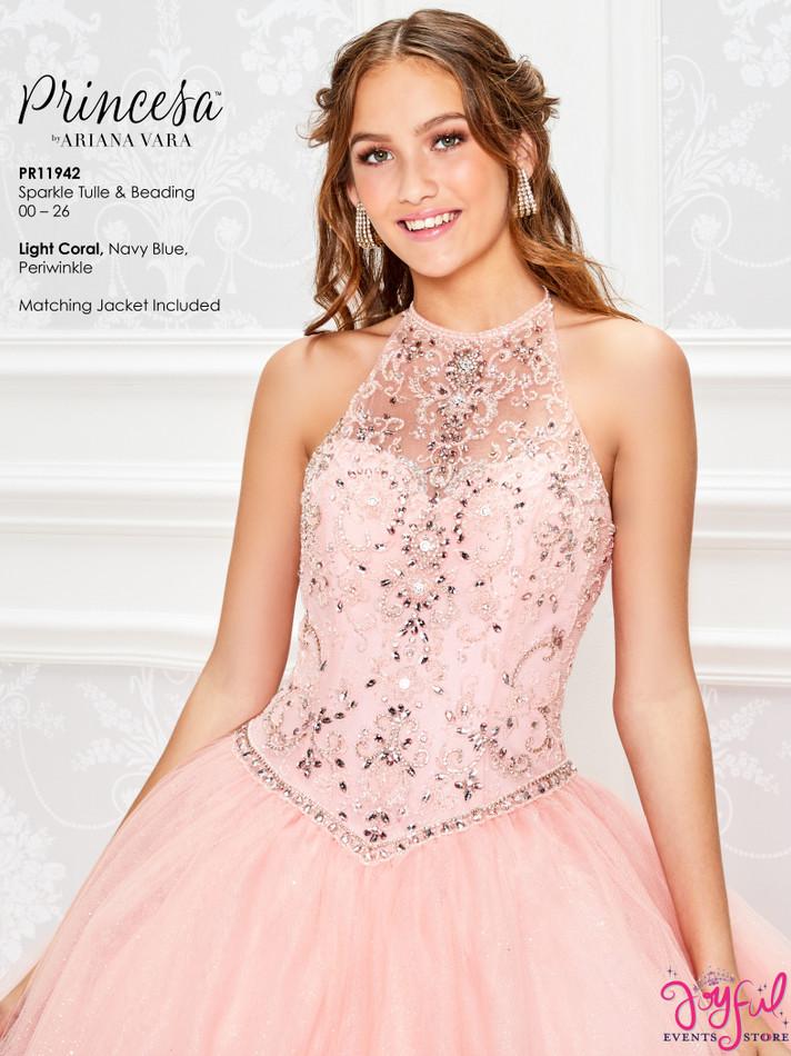 Light Coral Quinceanera Dress #PR11942LCR