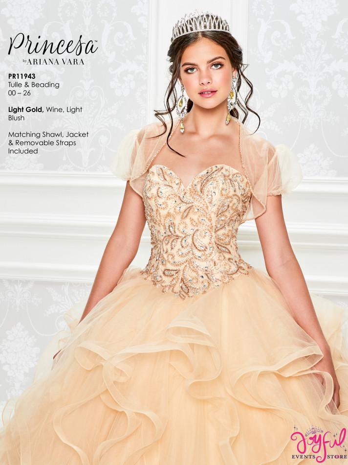 Light Gold Quinceanera Dress #PR11943LGD
